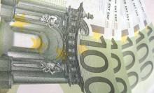 евро упал